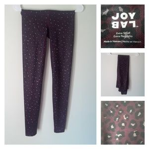 NWOT Joy Lab Burgundy Leopard Performance Leggings